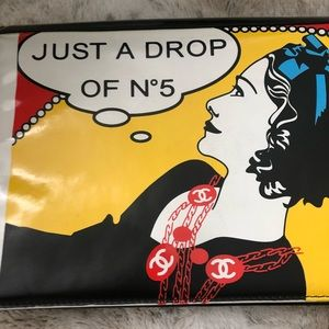 Authentic Rare Just A Drop of No 5 Wristlet